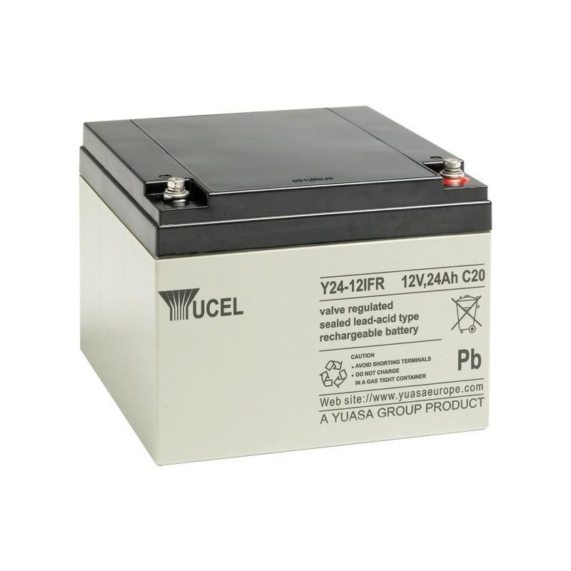 Batterie plomb étanche Y24-12FR Yuasa Yucel 12v 24ah