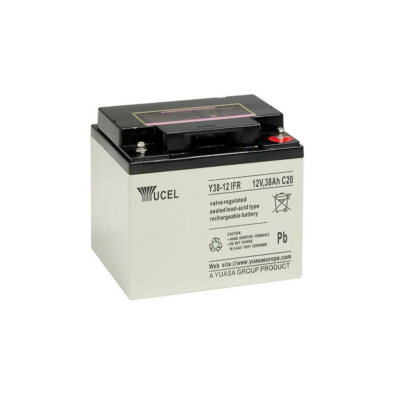 Batterie plomb étanche Y38-12FR Yuasa Yucel 12v 38ah