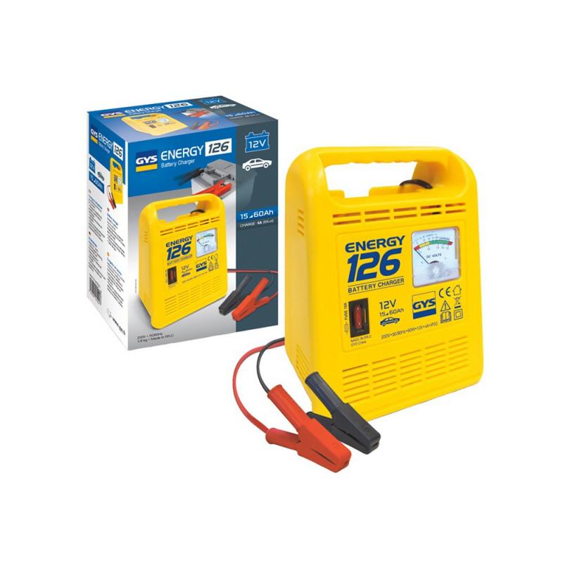 Chargeur de batterie GYS 023222 Energy 126 12V 4-6ah pour batterie de 15 à 60ah