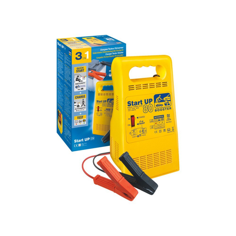 Chargeur booster testeur de batterie GYS Start UP 80 pour batterie de 45 à 170ah