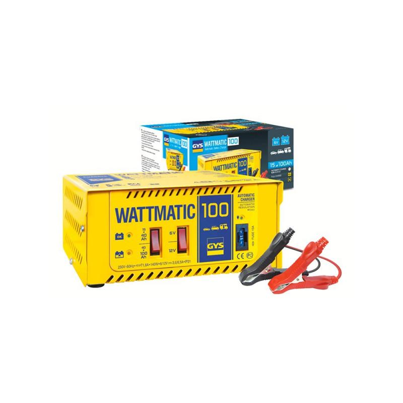 Chargeur automatique 024823 GYS Wattmatic 100 6/12v pour batterie de 15-100ah