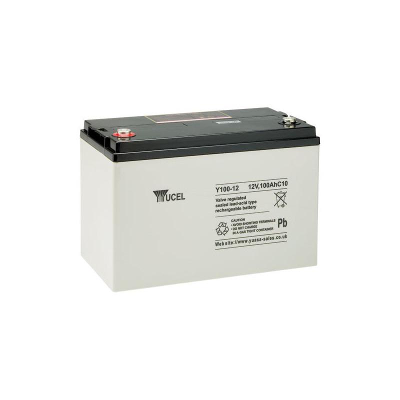 Batterie plomb étanche Y100-12 Yuasa Yucel 12v 100ah