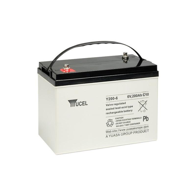 Batterie plomb étanche Y200-6 Yuasa Yucel 6v 200ah