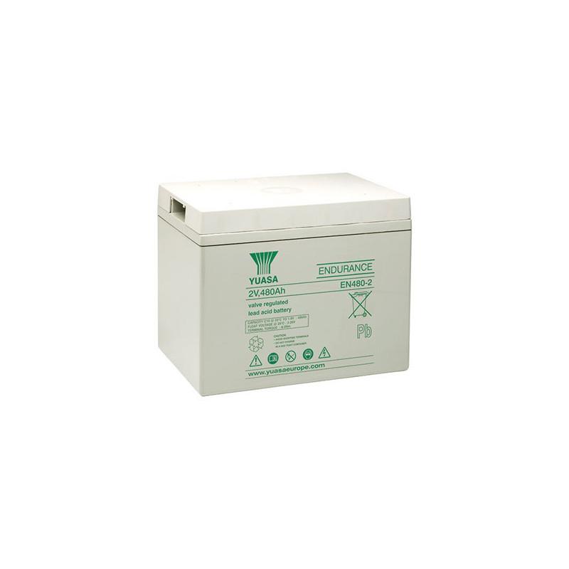 Batterie plomb étanche EN480-2 Yuasa 2v 488ah
