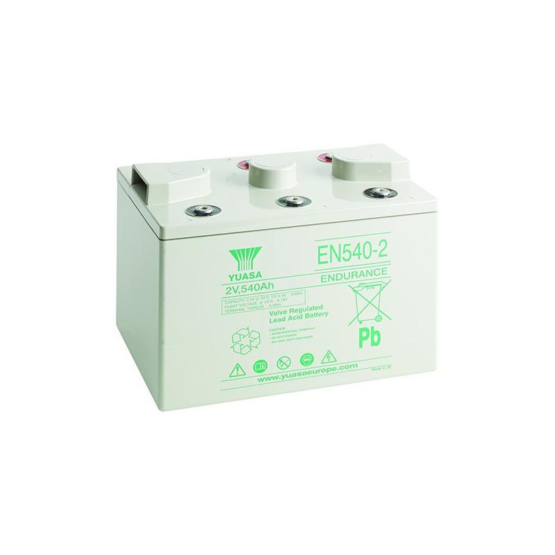 Batterie plomb étanche EN540-2 Yuasa 2v 540ah