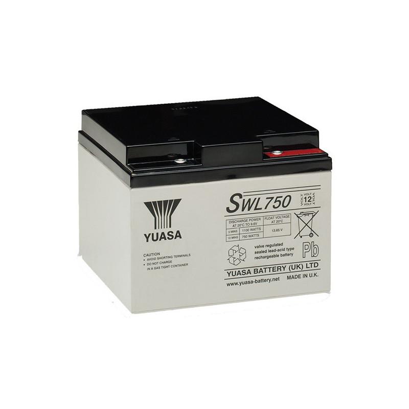 Batterie plomb étanche SWL750 Yuasa Yucel 12v 22.9ah