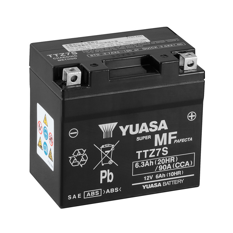 Batterie moto YUASA TTZ7S 12V 6.3AH 130A