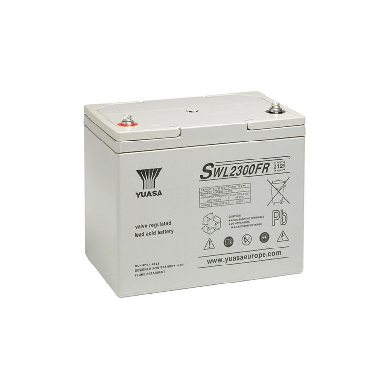 Batterie plomb étanche SWL2300 Yuasa Yucel 12v 78ah