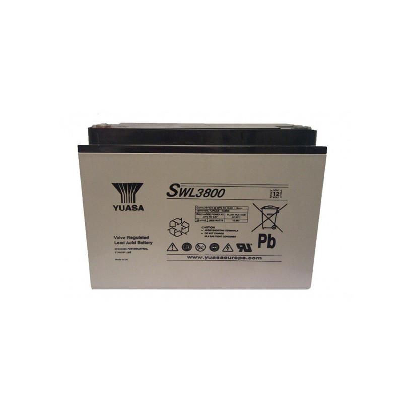 Batterie plomb étanche SWL3800 Yuasa Yucel 12v 124ah