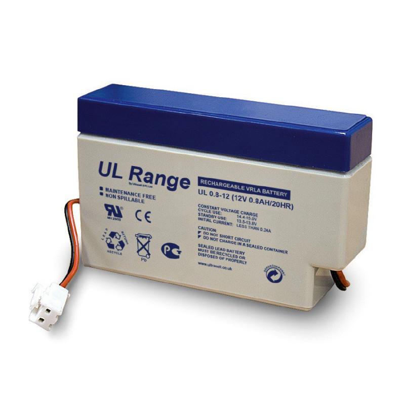 Batterie plomb étanche UL0.8-12 Ultracell 12v 0.8ah