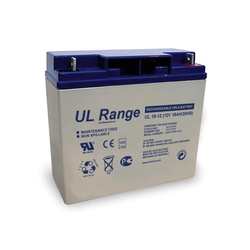 Batterie plomb étanche UL12-18 Ultracell 12v 18ah