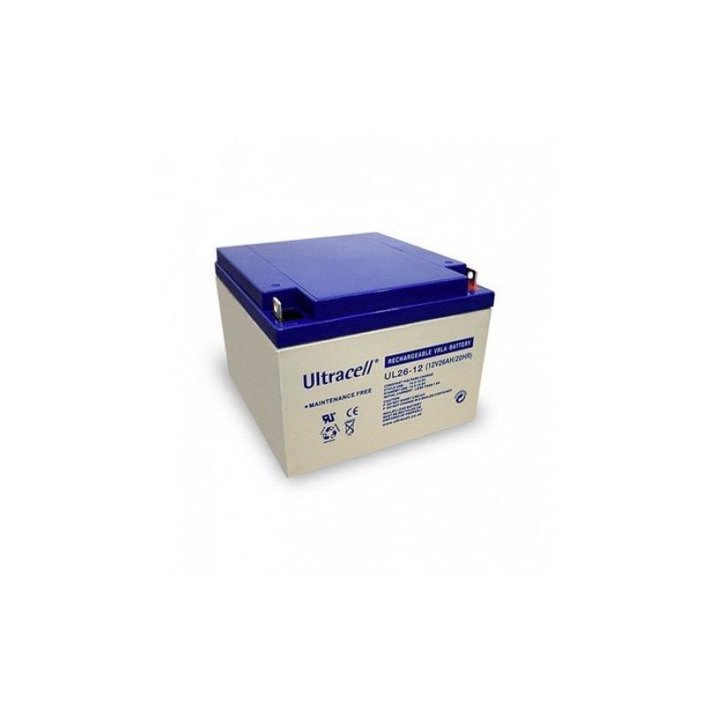 Batterie plomb étanche UL12-26 Ultracell 12v 26ah