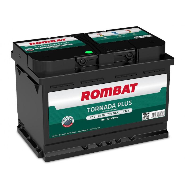 Batterie Rombat TORNADA T375 12V 75ah 700A