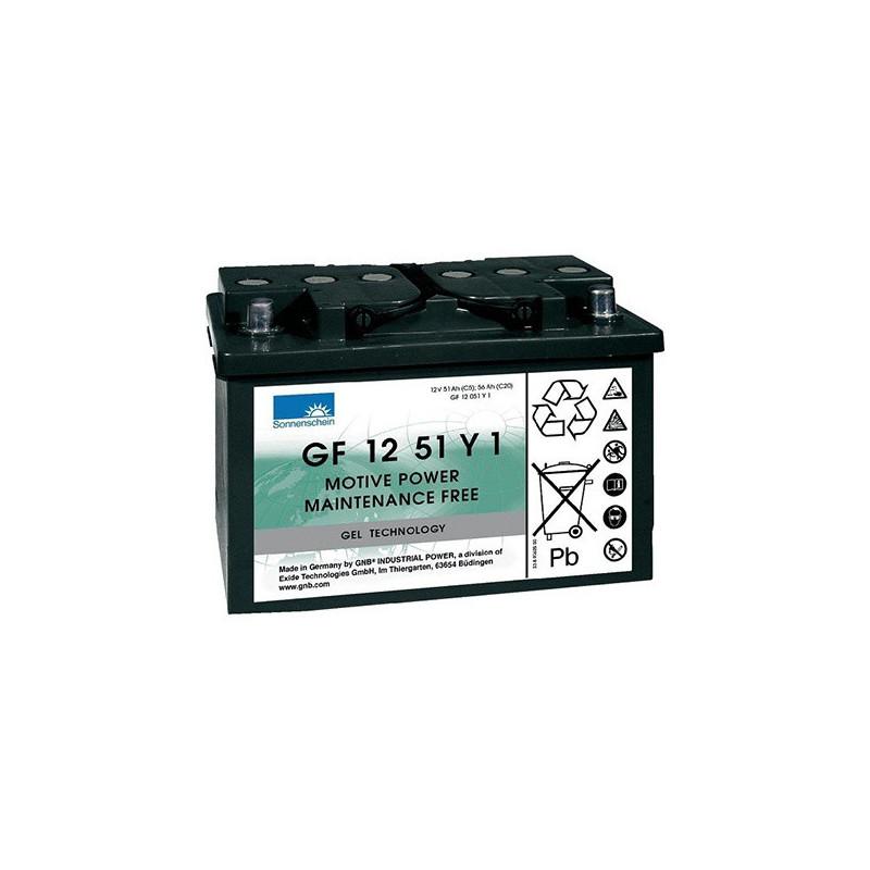 Batterie Gel Sonnenschein GF12051 Y1 12v 55ah