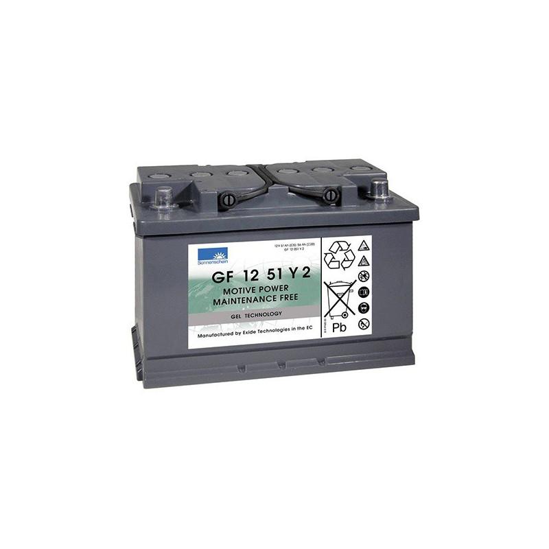 Batterie Gel Sonnenschein GF12051 Y2 12v 55ah