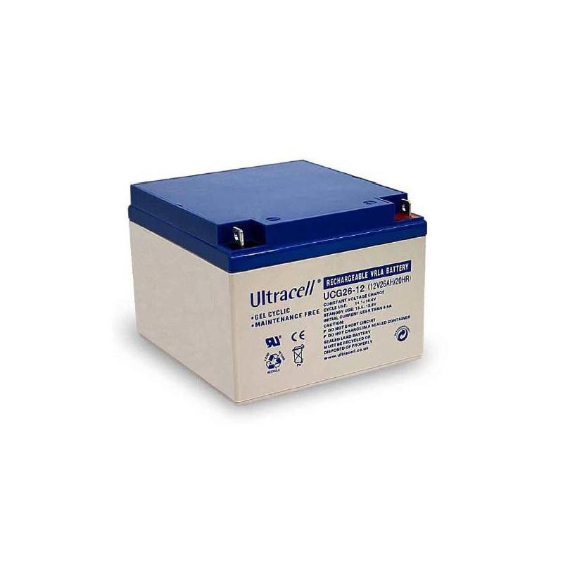 Batterie Gel Ultracell UCG26-12 12v 26ah