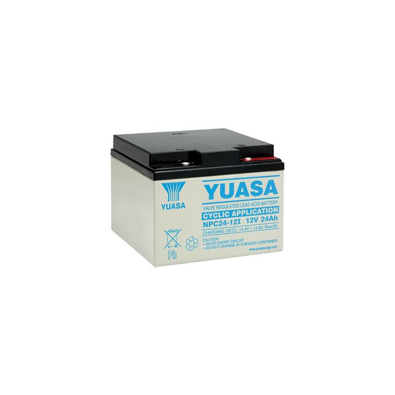 Batterie plomb étanche NPC24-12 Yuasa 12v 24ah