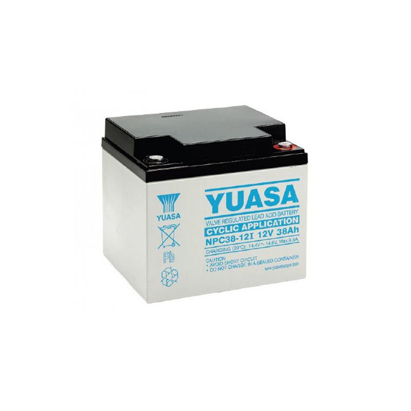 Batterie plomb étanche NPC38-12 Yuasa 12v 38ah