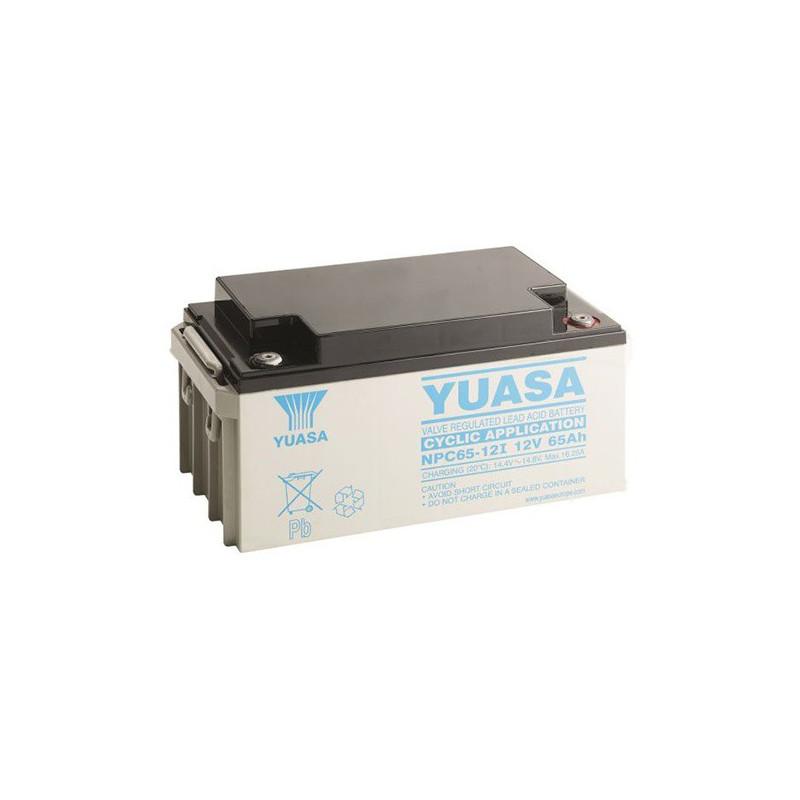Batterie plomb étanche NPC65-12 Yuasa 12v 65ah