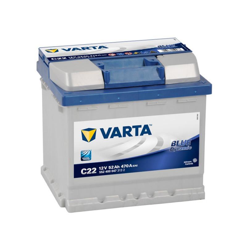 Batterie Varta Blue C22 12v 52ah 470A