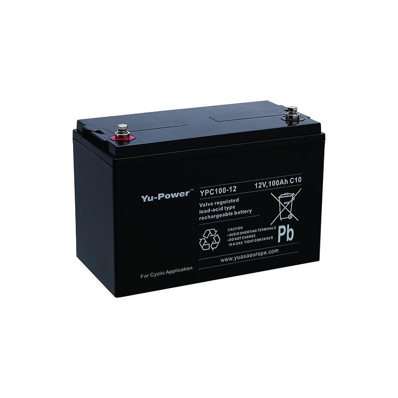 Batterie plomb étanche YPC100-12 Yuasa 12v 100ah