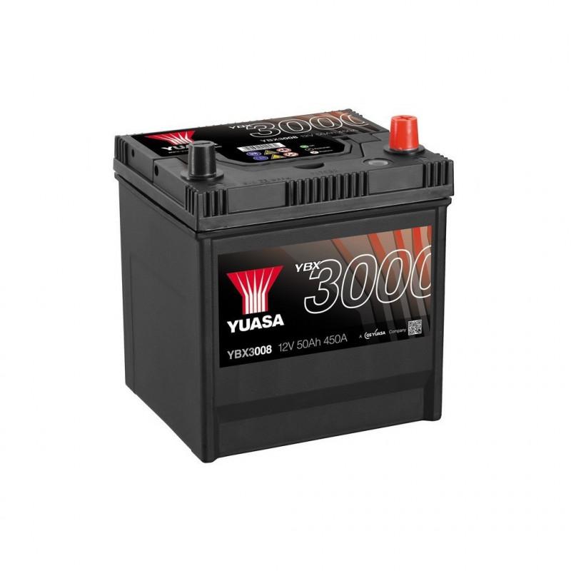 Batterie Yuasa SMF YBX3008 12V 50ah 450A
