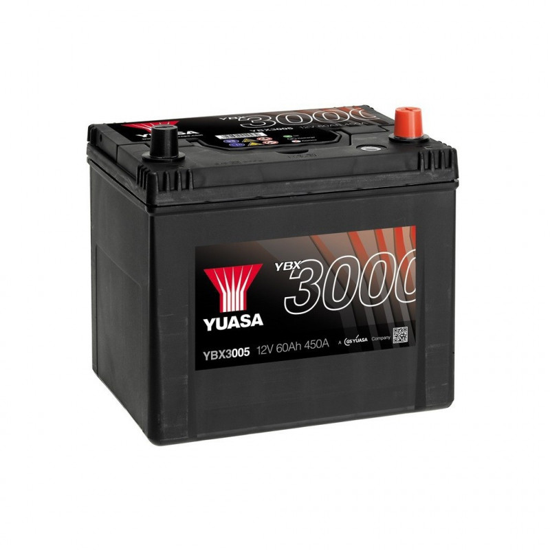 Batterie Yuasa SMF YBX3005 12V 60ah 450A