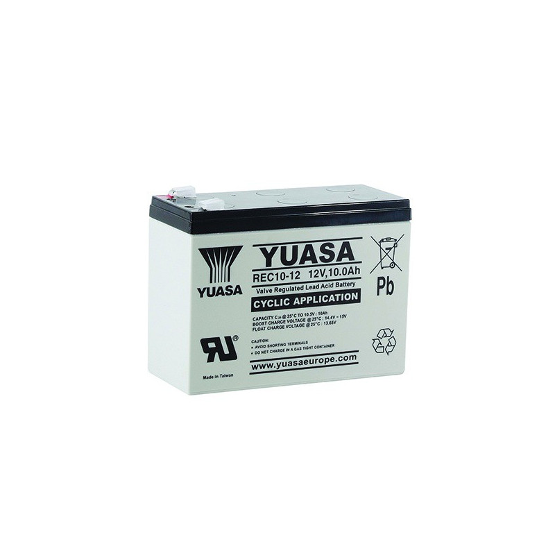 Batterie plomb étanche REC10-12 Yuasa 12v 10ah