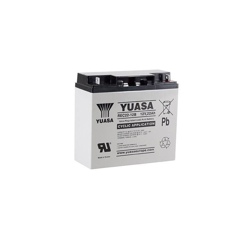 Batterie plomb étanche REC22-12 Yuasa 12v 22ah