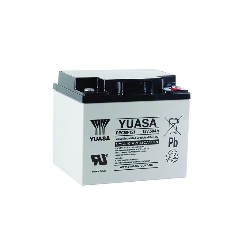 Batterie plomb étanche REC50-12 Yuasa 12v 50ah