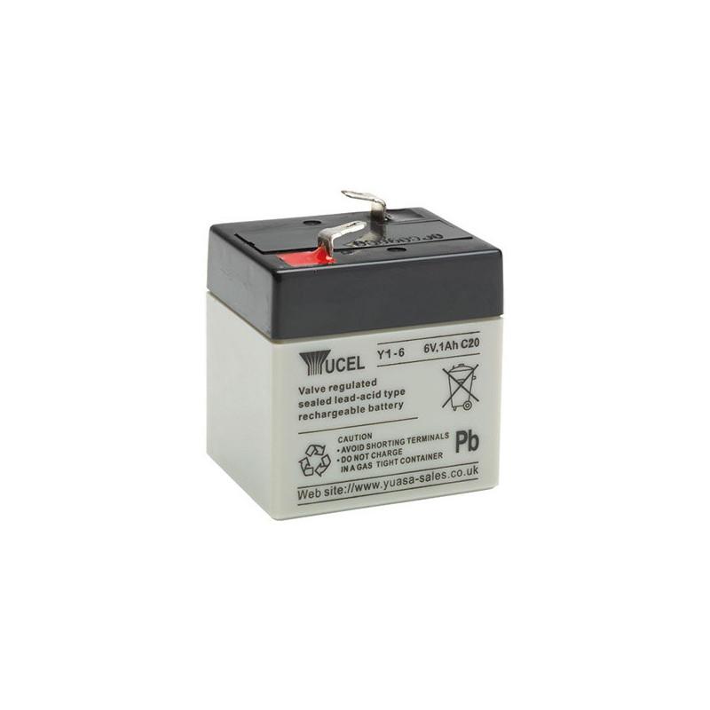 Batterie plomb étanche Y1-6 Yuasa Yucel 6v 1.2ah