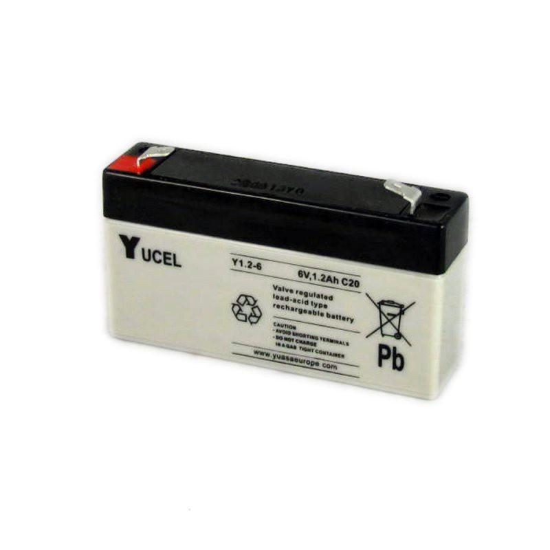 Batterie plomb étanche Y1.2-6 Yuasa Yucel 6v 1.2ah