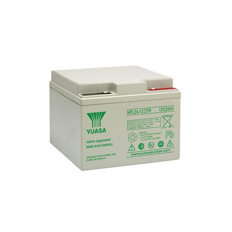 Batterie plomb étanche NPL24-12FR Yuasa 12v 24ah
