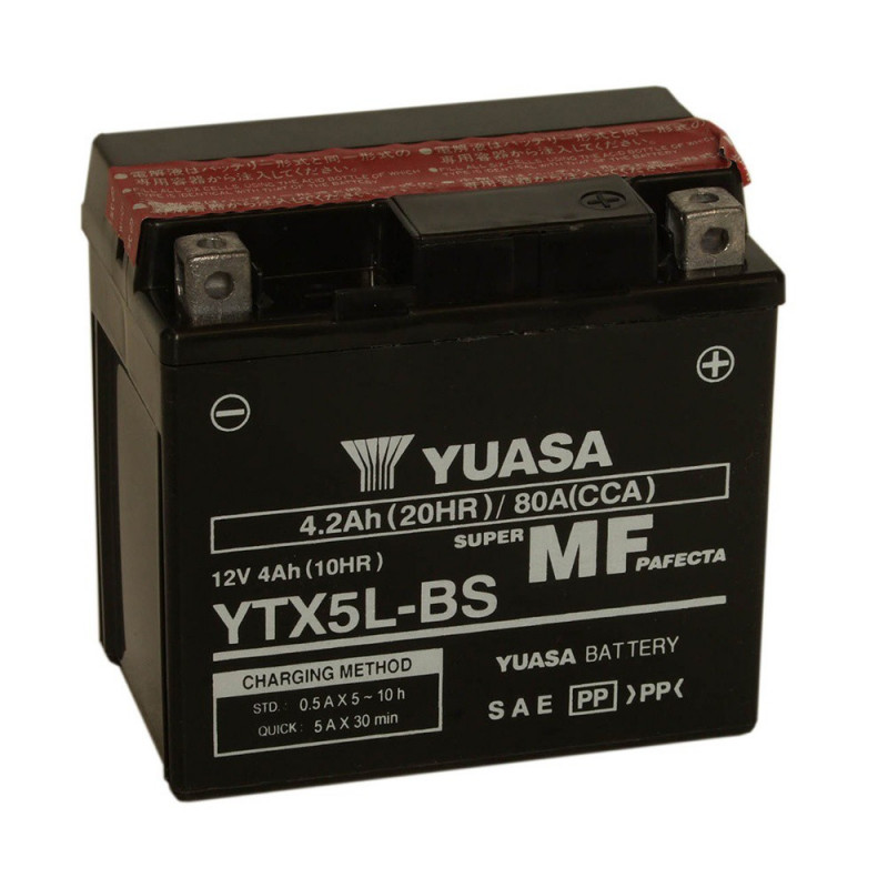 Batterie moto YUASA YTX5L-BS 12V 4.2AH 80A