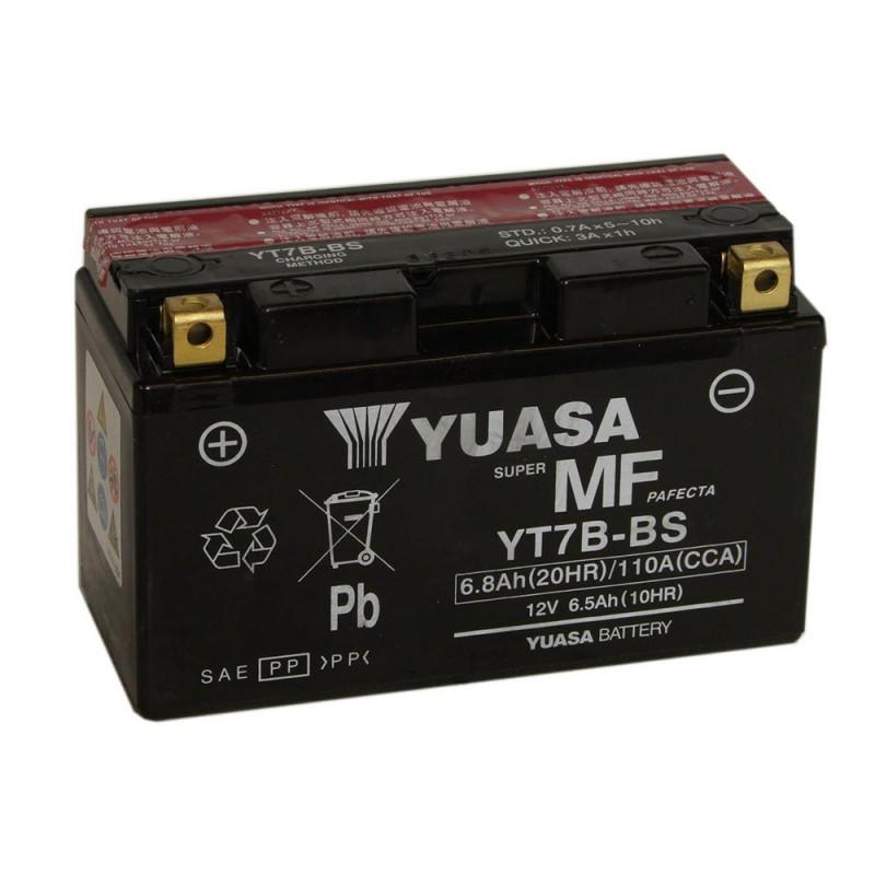 Batterie moto YUASA YT7B-BS 12V 6.8AH 110A