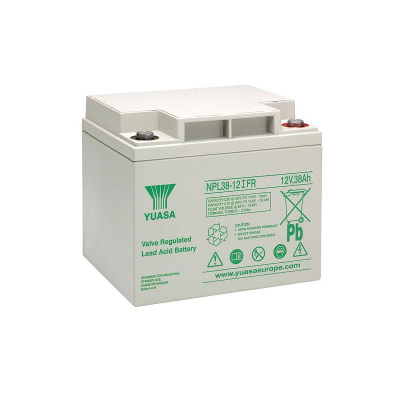 Batterie plomb étanche NPL38-12FR Yuasa 12v 38ah