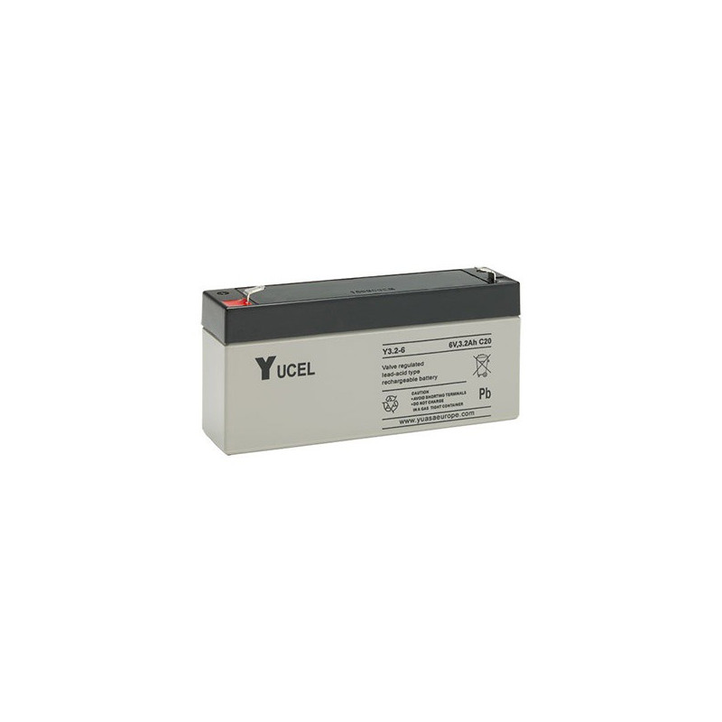 Batterie plomb étanche Y3.2-6 Yuasa Yucel 6v 3.2ah