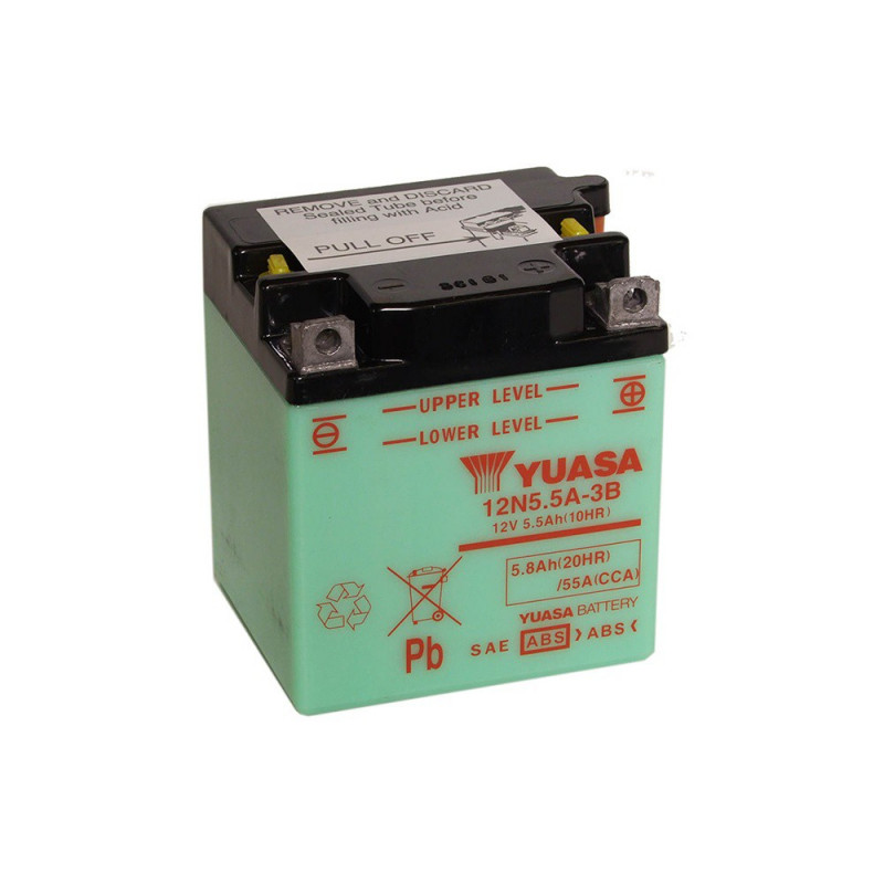 Batterie moto YUASA 12N5.5-3B 12V 5.8AH 55A