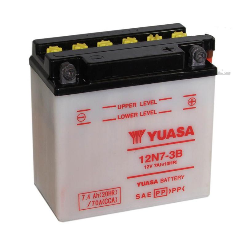 Batterie moto YUASA 12N7-3B 12V 7.4AH 70A