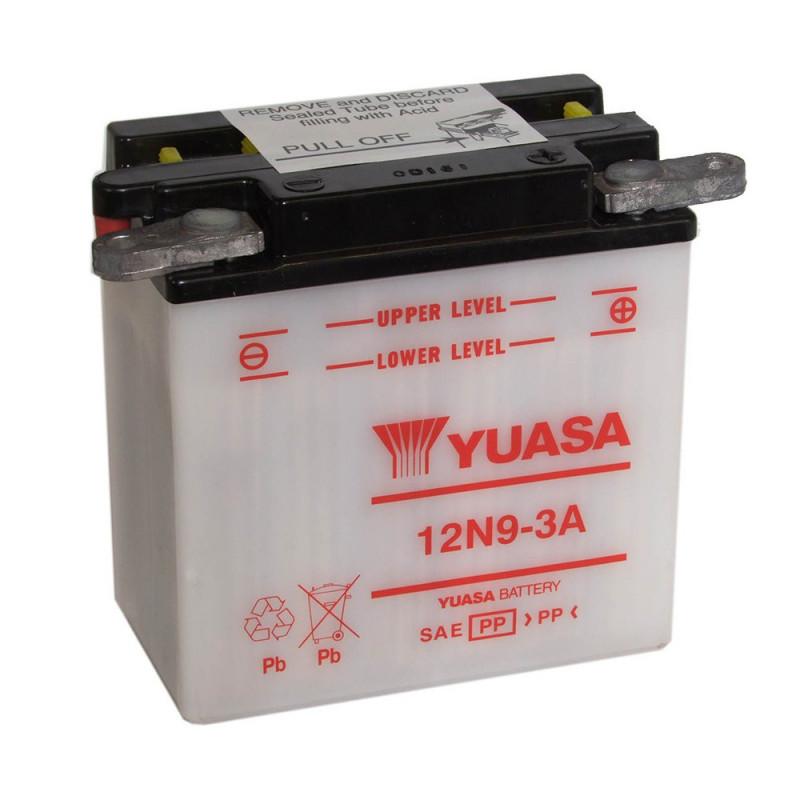 Batterie moto YUASA 12N9-3A 12V 9.5AH 80A