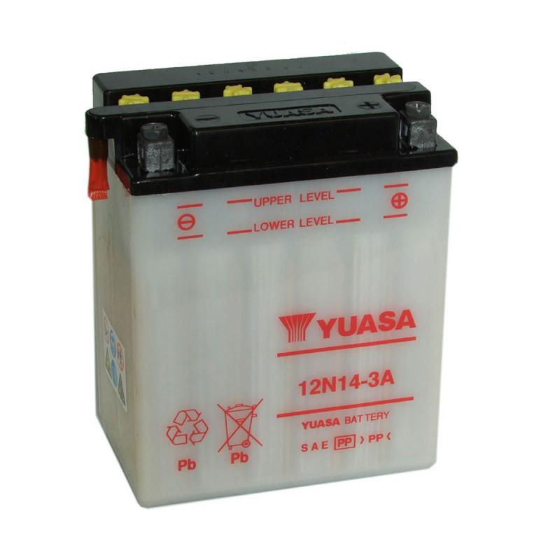 Batterie moto YUASA 12N14-3A 12V 14.7AH 125A