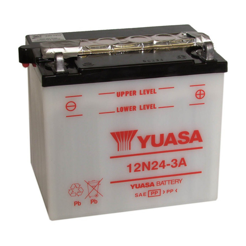 Batterie moto YUASA 12N24-3A 12V 25.3AH 200A