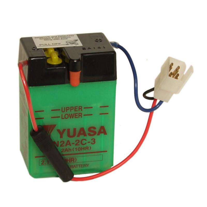 Batterie moto YUASA 6N2A-2C 6V 2.1AH