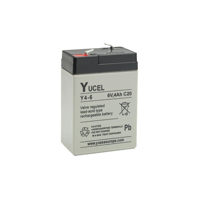 Batterie plomb étanche Y4-6 Yuasa Yucel 6v 4ah