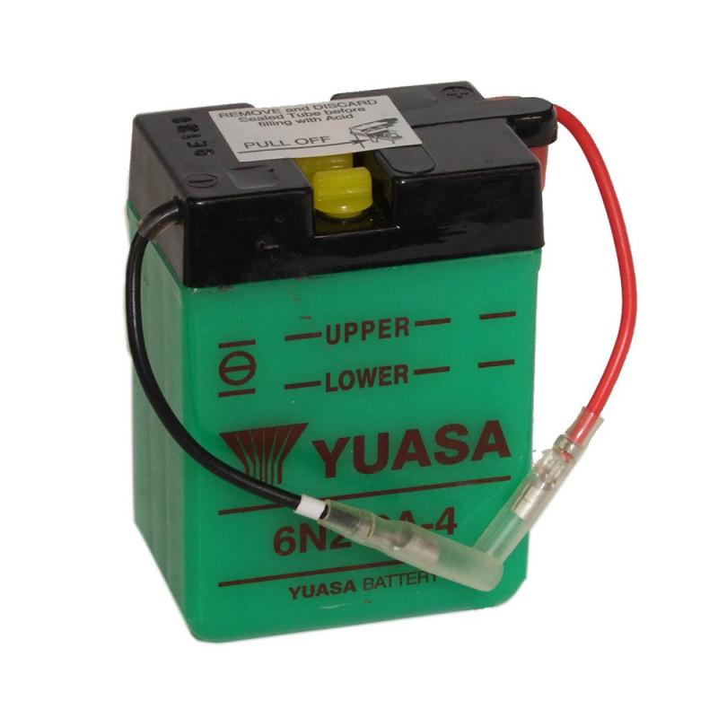 Batterie moto YUASA 6N2-2A-4 6V 2.1AH
