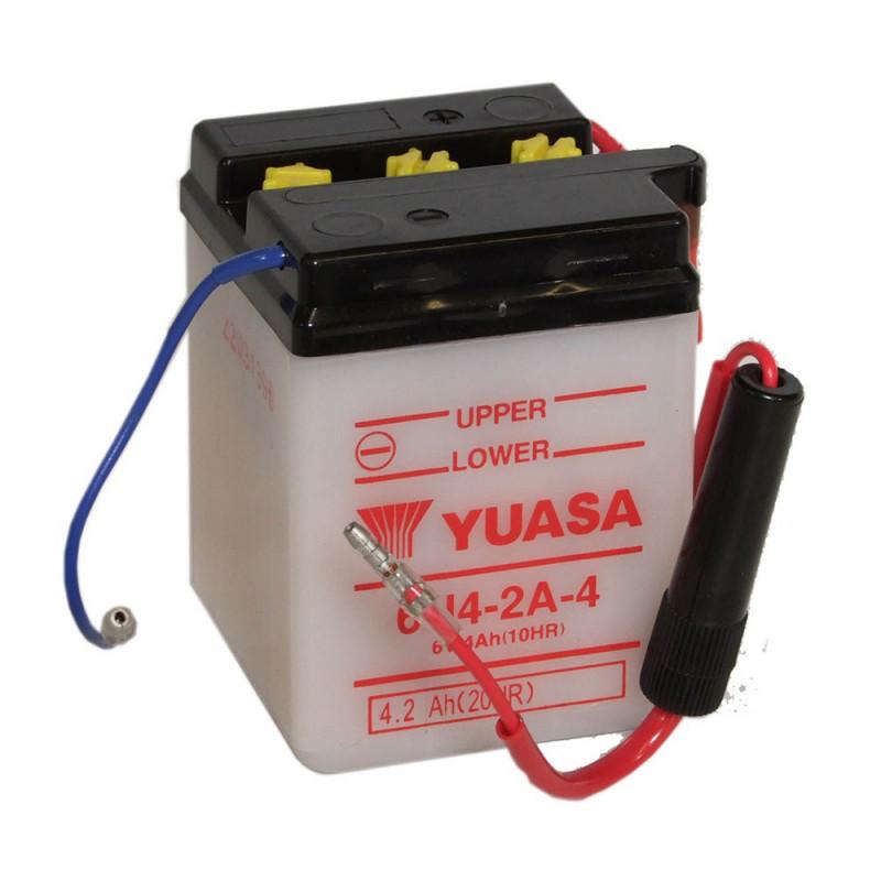 Batterie moto YUASA 6N4-2A-4 6V 4.2AH