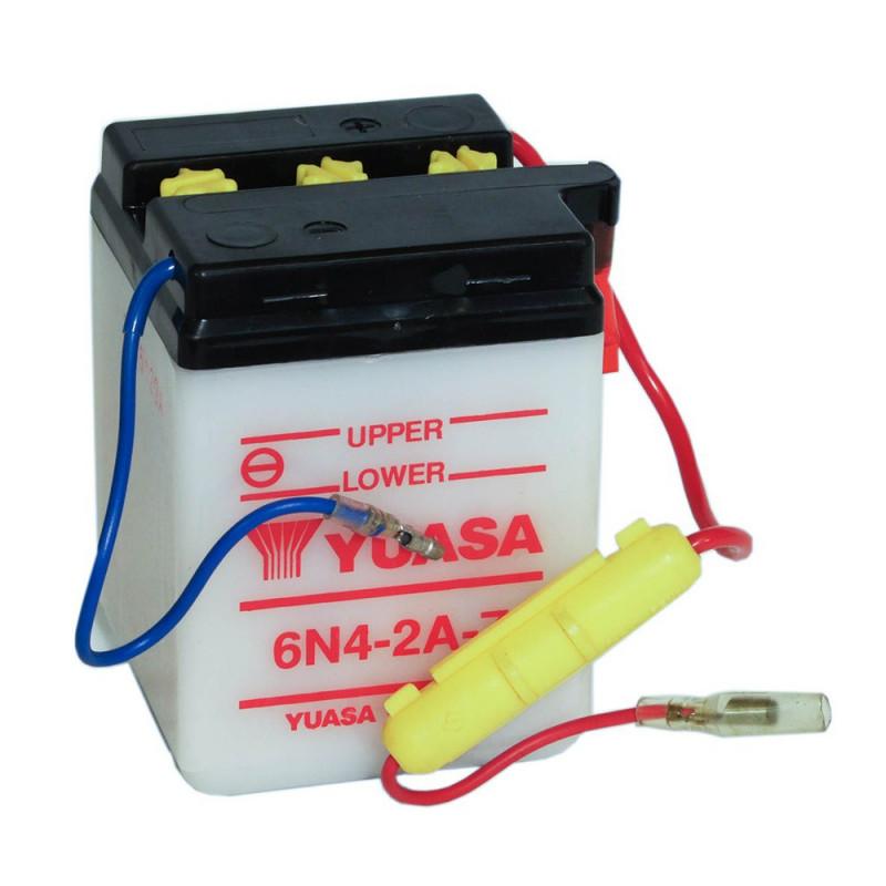 Batterie moto YUASA 6N4-2A-7 6V 4.2AH