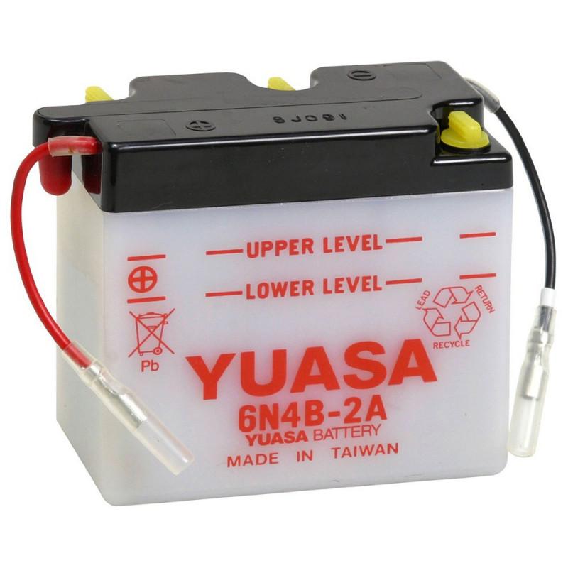 Batterie moto YUASA 6N4B-2A 6V 4.2AH