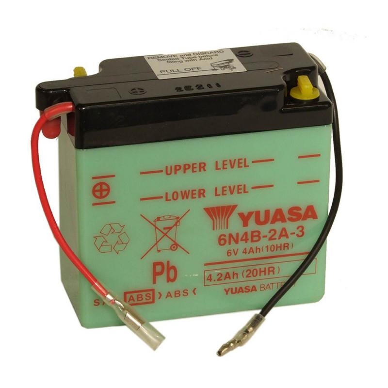 Batterie moto YUASA 6N4B-2A-3 6V 4.2AH