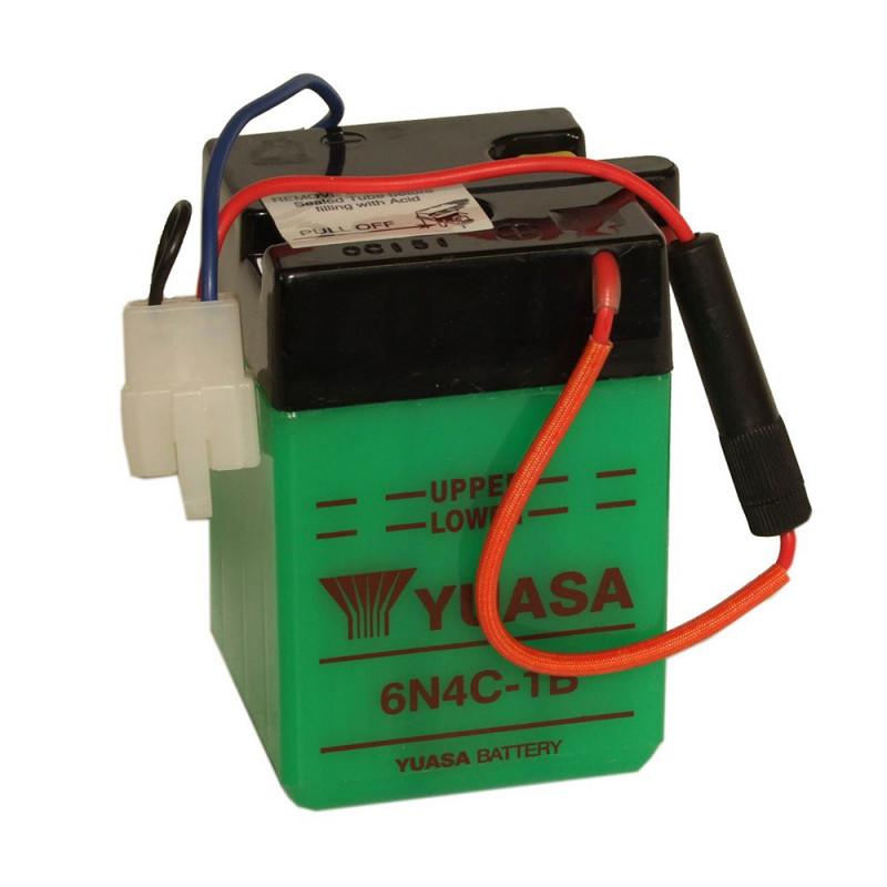 Batterie moto YUASA 6N4C-1B 6V 4.2AH